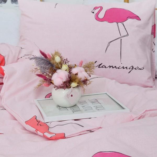 """Подростковое постельное белье бязь-ранфорс 19007 """"Розовый фламинго"""""""