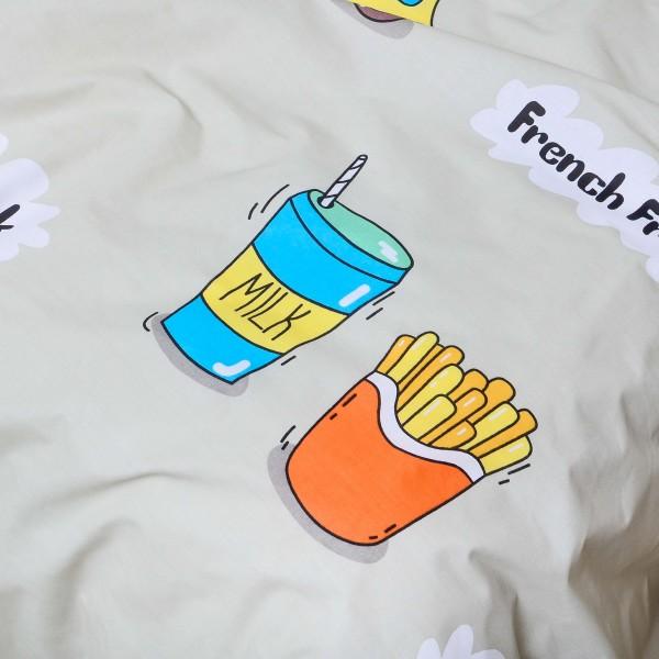 """Подростковое постельное белье бязь-ранфорс 21141 """"Фастфуд"""""""