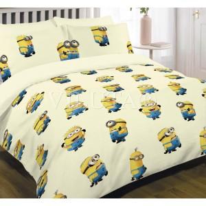 Подростковое постельное белье бязь-ранфорс Вилюта Миньйоны Желтые